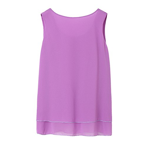 Damen Sommer Casual Loose Fit Kurzarm Fledermaus Batwing T-Shirt Shirt Chiffon Top Bluse Lila