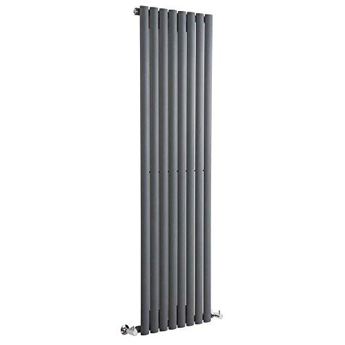 Hudson Reed Revive Radiatore Termoarredo di Design Verticale Moderno - Termosifone con Finitura in Antracite - Design a Colonna - 1600 x 472 x 56mm - 1122W - Riscaldamento di Lusso