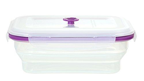 Idelice CO278788A Flexibox Caja de conservación rectangular silicona alimentaria/Polipropileno violeta 0,8l