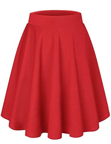 DRESSTELLS Falda Mujer Mini Corto Elástica Plisada