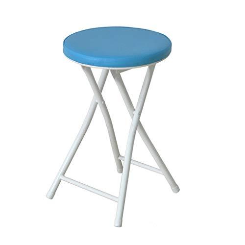 Youju yx shop® sgabello pieghevole casa sgabelli alti tavolo da pranzo sgabello da bar sgabello da ufficio piccolo sgabello da esterno sedia portatile * (colore : blu)