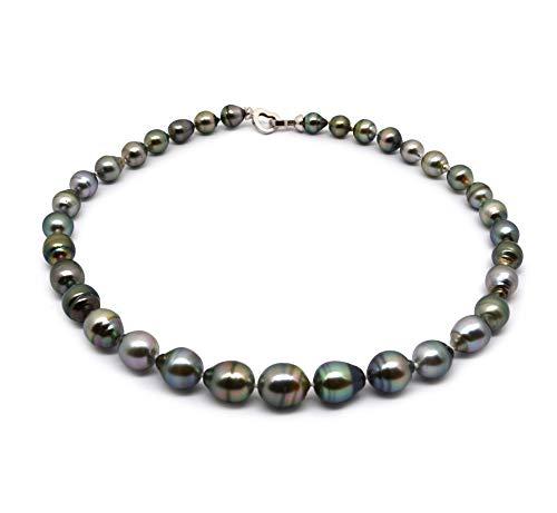 PearlsOnly Halskette mit mehrfarbigen, 8-11mm großen Tihitianischen Perlen in Barock-Qualität, Joena -17 ()