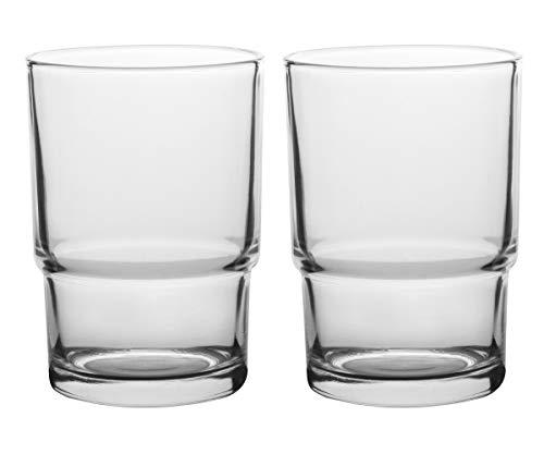 Livpow Zahnputzbecher Glas Ersatz Klarglas Packung Von 2 MEHRWEG - Glas-zahnputzbecher