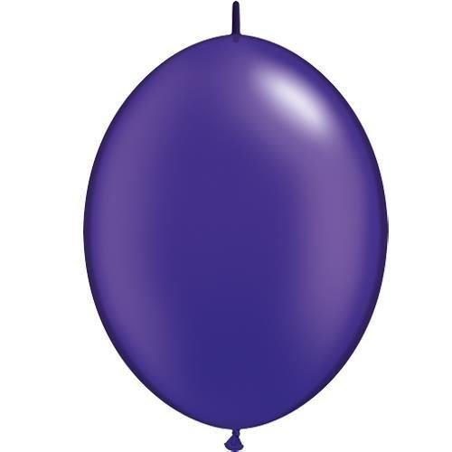 Pearl Quartz Purple 12 Inch Qualatex Quick Link Balloons x 50 by Qualatex