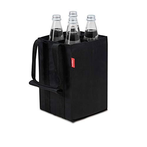 Achilles Borsa per bottiglia 4er borsa per bottiglia per 4 bottiglie da 15 litri custodia per il trasporto con pareti divisorie portabottiglie nero