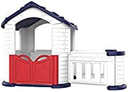 PLAYHOUSE WITH ROOM WHITE + BLUE + RED-28-602CHD