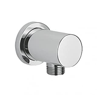 Alfred Victoria Modern Round Wall Outlet Brass Elbow WE01 - Chrome Finish