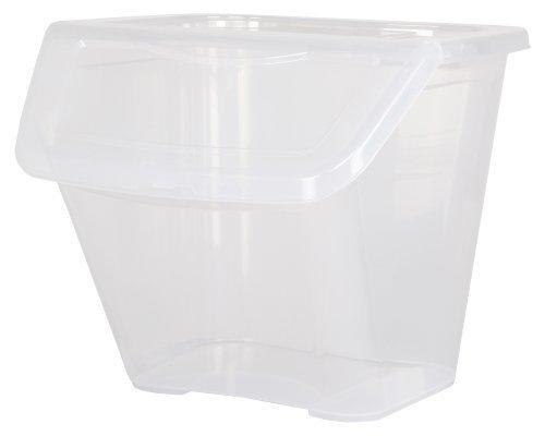 Ondis24 T-Box mit großem Eingrifffach, klappbar und abnehmbar, genial für Lagerregale, Transparent Regalbox Aufbewahrungsbox