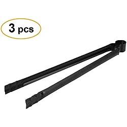3Stück Grill-Holzkohle Zange, Anti-hot Metall Grill Carbon Lebensmittel Clip mit Schlaufe zum Aufhängen