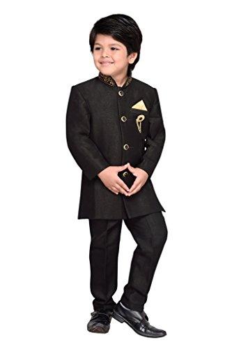 AJ Dezines Kids Party Wear Suit Set for Boys (691_BLACK_10)