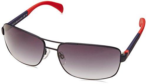 x-Erwachsene TH 1258/S JJ Sonnenbrille, Schwarz (Mtt Blue Red), 64 (Tommy Hilfiger Sonnenbrille Männer)