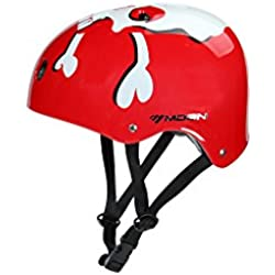 Moon Nut Case Style mtv12 – Casco Bike y skate Casco de bicicleta para niños unisex, Red Ghost