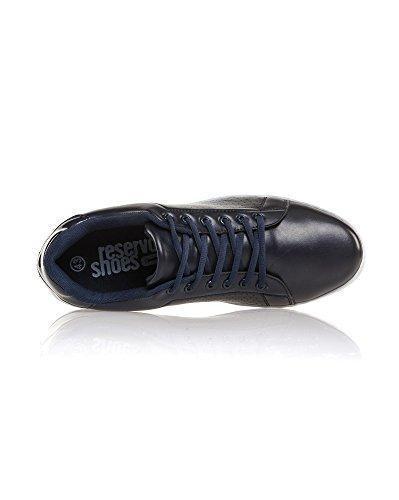 BLZ jeans - Baskets Bleues Navy Avec Lacets Bleu