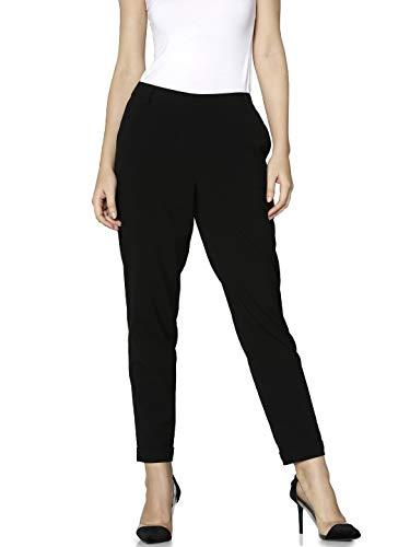 ONLY Damen Hose Onlfini Pull Up Pants TLR, Schwarz (Black), W(Herstellergröße: 40)