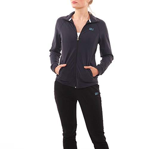 SPORTKIND Mädchen & Damen Tennis, Fitness, Sport Trainingsjacke, Navy blau, Gr. 140