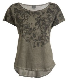 T-shirt donna manica corta DEHA art. B4240024615, colore verdone, collezione AI16.