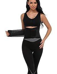 MISS MOLY Waist Shaper|AdelgazanteWaist Trainer Training Corset Deportivo Shaper Moldeadora Faja Reductora Cintura Corsé Slimming Belt Negro/Rojo/Azul/Naranja