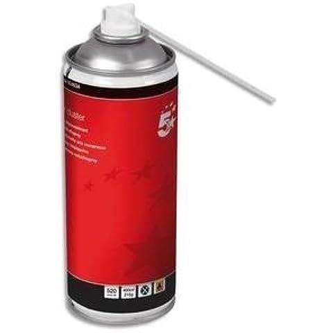 5Star–Limpiador de aire puede HFC libre Gas comprimido inflamable 400ml