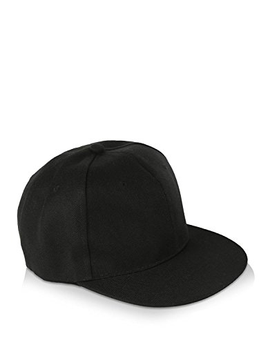 H-Store Black Plain Baseball Cap Hiphop, Snapback Caps for Men and women  available at amazon for Rs.285