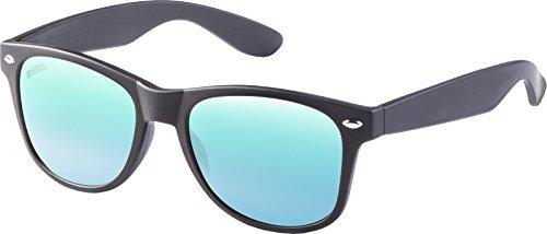 MSTRDS Likoma Mirror Unisex Sonnenbrille Für Damen und Herren mit verspiegelten Gläsern, black/blue