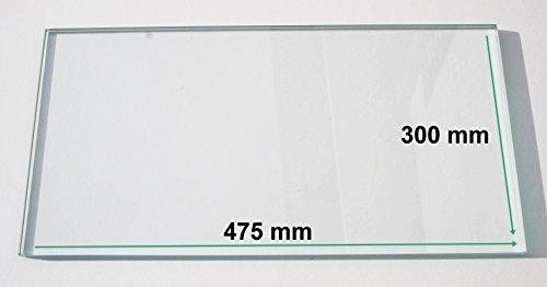 Kühlschrank Einlegeboden / Glasplatte / Gemüsefach – Klarglas 4 mm dick - 475 mm x 300 mm – Direkt vom Glasereifachbetrieb!!!