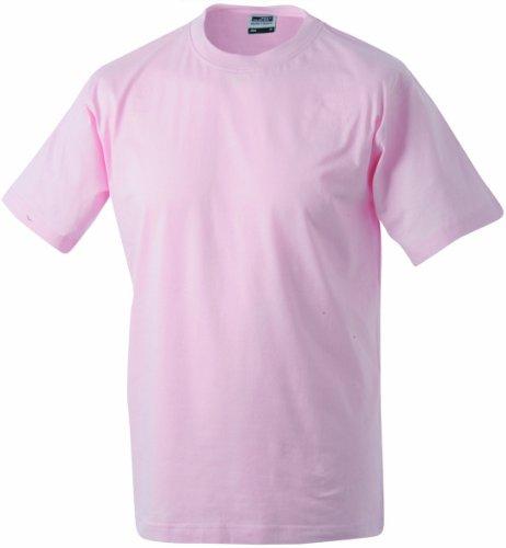 James & Nicholson Herren Kurzarm Shirt Rosa (Rosa)