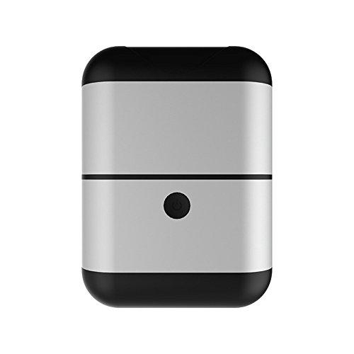 MOGUU Kabellos Bluetooth 4.2 Kopfhörer (Eingebautes Mikrofon) Ist Geeignet Für Sport-Business-Fitness-Reisen, Kopfhörer Kompatibel Mit Jedem Smart-Gerät., Schwarz Silber Headphones Earphones