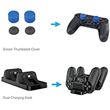 Leoie 5 In 1 Game Pack Charger Station Dock Microphone Gaming Headset Games Stroage Stand For PS4/PS4 Pro/PS4 Slim
