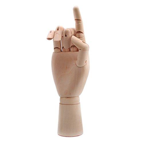 Hölzerne Menschliche Rechte Hand Modell Holzhand Zeichnungsmodell (26cm/10inch)