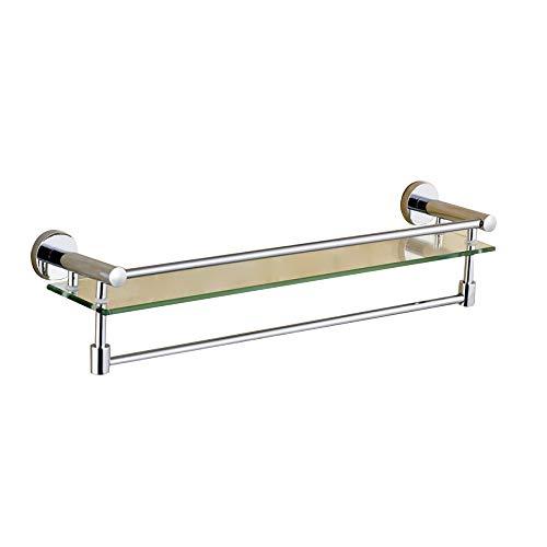 qzp Handtuchhalter Handtuchringe Handtuchhaken Duschkörbe WC Glasregal Handtuchhalter Kosmetiklagerregal Badezimmer-Eitelkeit