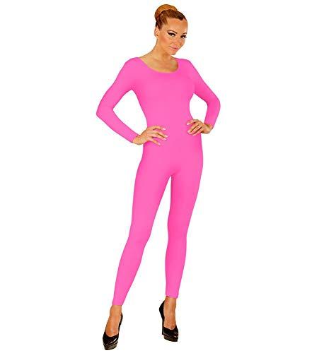 80er Ballerina Kostüm - shoperama Damen Bodysuit Langarm Ballett Flamingo 80er Jahre Disco Tänzerin Kostüm-Zubehör Karneval Fasching Overall Catsuit Jumpsuit, Farbe:Pink, Größe:XL