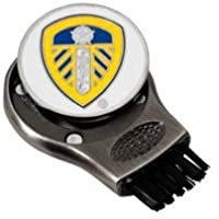 NEW LEEDS UNITED GRUVE CLEANER. GROOVE CLEANING BRUSH WITH GOLF BALL MARKER