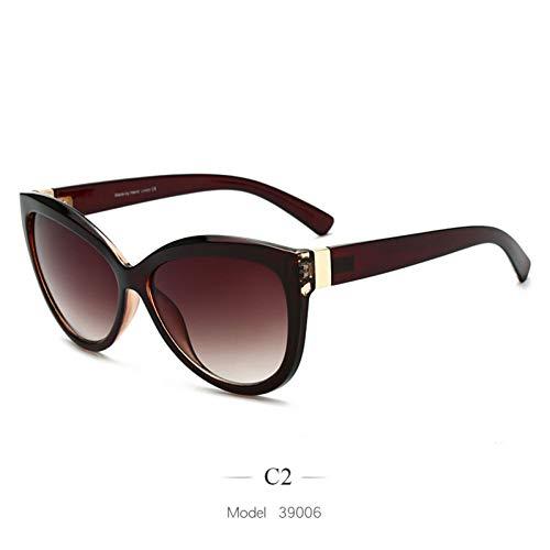 Kjwsbb 2019 übergroße Sonnenbrille Frauen Vintage Sonnenbrille Damen Trend großen Rahmen Eyewear uv400