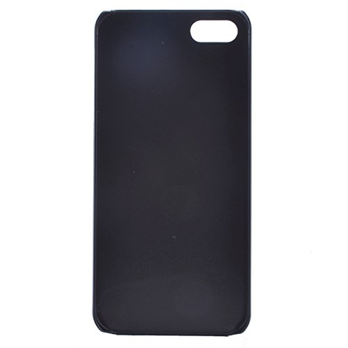 Ukayfe Ultra Slim Hard Plastica Protettivo Skin Custodia Stilosa custodia di design Protettiva Shell Case Cover Per Apple iphone 5/5S Con free Stilo Penna - Black Mouth-we are all mad here Gatto con gli occhiali