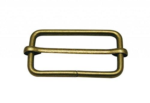 Generic Bronze en Métal Rectangle Boucle 5,1 x 2,5 cm à l'intérieur taille coulissant pour bar Sangle Keeper Lot de 10