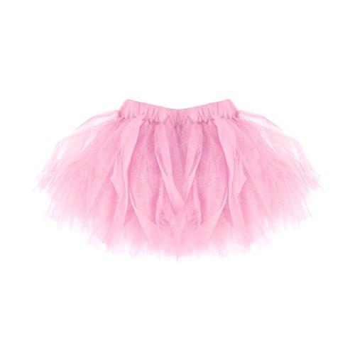 (Homyl Mädchen Damen Regenbogen Tüllrock Tütü Tutu Ballettrock Tanzkleid Ballettkleid Ballettröckchen Rock Mutter und Tochter Kleid - Rosa, Baby)