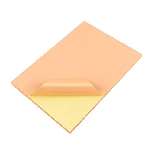 STOBOK A4 Druck Aufkleber Papier Kraft Drucken Kopie Etikettenpapier für Tintenstrahldrucker Heim und Büro 90 Stücke