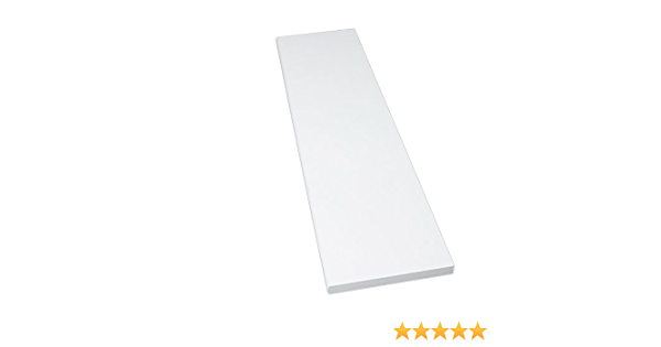 4 Seiten umleimt runde Kante M/öbelbauplatte Regalbrett Wei/ß 800 x 400 x 16 mm