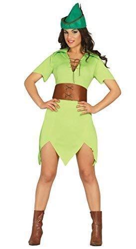 Sexy da donna verde arciere Robin Hood film Halloween festa del libro costume travestimento