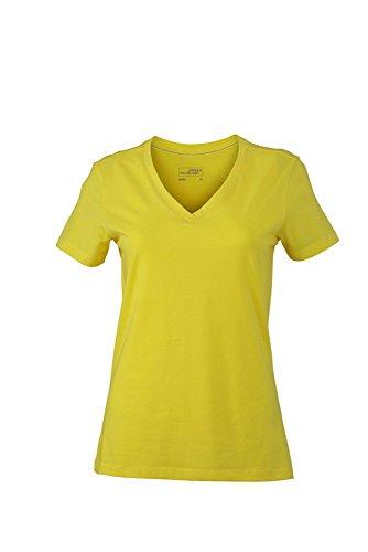 JN928 Ladies' Stretch V-T T-Shirts aus weichem Elastic-Single-Jersey Yellow