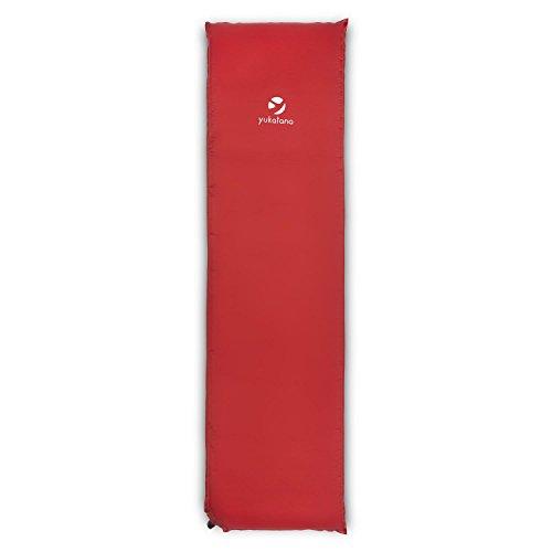 Yukatana gooddream 7 materassino ad aria in schiuma autogonfiante campeggio (51 x 10 x 183 cm, 7 cm, srotolabile) rosso