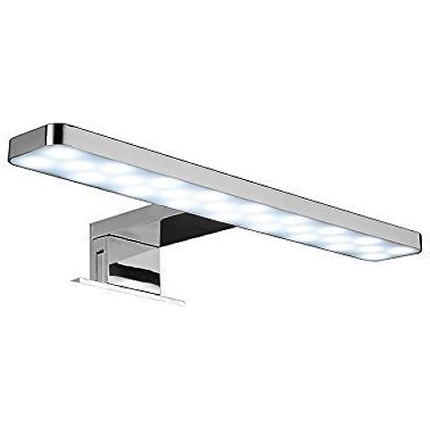 LED Aplique CM 38 Lámpara de Espejo Baño Hace la Luz Frente al Espejo Blanco Frío bombilla LYBRA