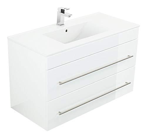 Emotion Meuble salle de bain Casa Infinity 1000 blanc brillant