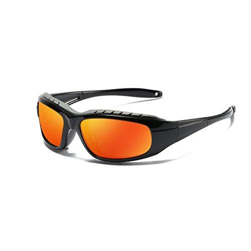 WITTMANN Radfahren Fahrrad Fahrrad Mode Brille Schutz Radfahren Brille Fischen Fahren Sonnenbrille Brillen Sport Outdoor Reiten Brille (Farbe : Black/ORANGE)