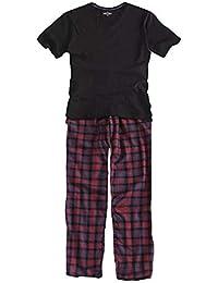 a3327f8e50ee Reveryml Uomo Pantaloni Pigiama Plus Size 100% Cotone Pigiama Uomo Pijama  Hombre Masculino Manica Corta