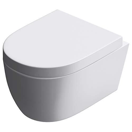 Hänge-WC Toilette Aachen106 Wand-WC aus Keramik, BTH: 35,5x48x25cm