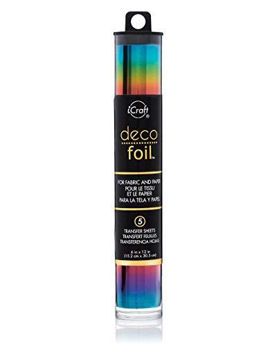 Craft-folie (Unbekannt Thermoweb Folie Deco Specialty 6x 12Zoll, Rainbow)