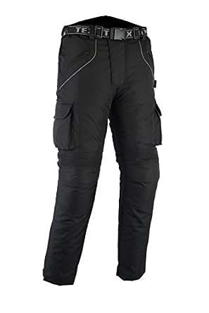 All Black Waterproof Armoured Motorcycle/Motorbike Trousers