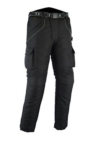 Texpeed All Black CE Armoured Motorcycle/Motorbike Trousers - Huge Size Selection