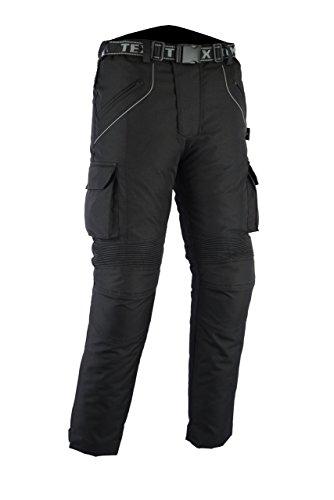 Texpeed - Motorradhose mit Protektoren - Wasserdicht - Textil - Cordura - Schwarz - Alle Größen